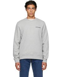 Wood Wood Grey Hugh Logo Sweatshirt