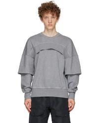 Alexander McQueen Grey Layered Sweatshirt