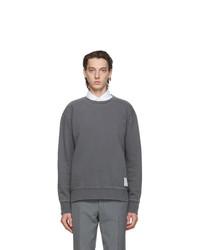 Thom Browne Grey Loopback Classic Sweatshirt