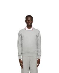 Thom Browne Grey Loopback Rwb Stripe Sweatshirt