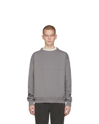 C2h4 Grey Mock Neck Sweatshirt
