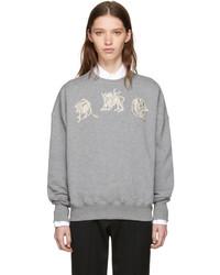 Alexander McQueen Grey Mythical Logo Sweatshirt