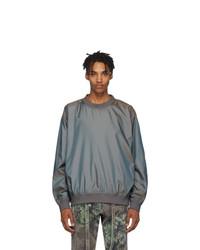 Fear Of God Grey Nylon Iridescent Sweatshirt