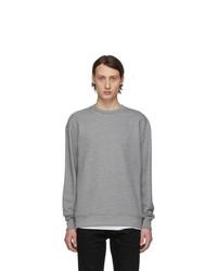 John Elliott Grey Oversized Crewneck Sweatshirt