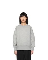 Sacai Grey Shirt Back Sprong Sweatshirt