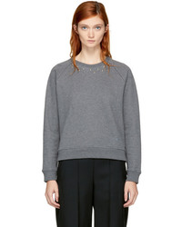 Carven Grey Studs Sweatshirt