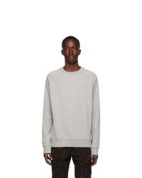 MAISON KITSUNÉ Grey Tricolor Fox Sweatshirt