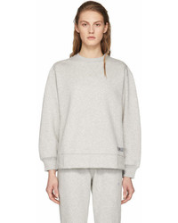 adidas by Stella McCartney Grey Yo Zip Crewneck Sweatshirt