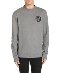 Versace Collection Half Medusa Patch Cotton Sweatshirt