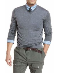 Brunello Cucinelli Heathered Silkcotton Jersey Sweatshirt
