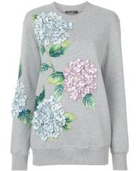 Dolce & Gabbana Hydrangea Appliqu Sweatshirt