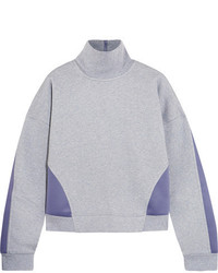 adidas by Stella McCartney Jersey And Stretch Scuba Sweatshirt Gray
