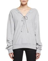 Saint Laurent Lace Up Sweatshirt