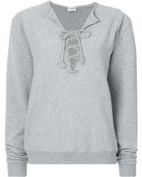 Saint Laurent Neck Tied Sweatshirt