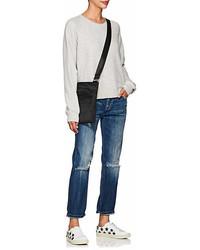 Current/Elliott Open Back Cotton Blend Sweatshirt