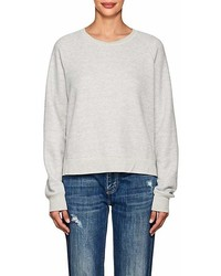 Current/Elliott Open Back Cotton Blend Sweatshirt