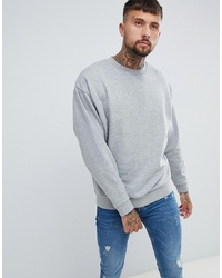 ASOS DESIGN Oversized Sweatshirt In Grey Marl Marl