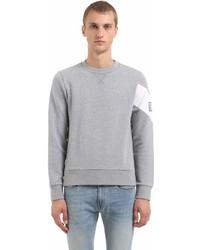 Moncler Gamme Bleu Printed Cotton Jersey Sweatshirt