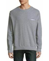 Rib Trimmed Cotton Sweatshirt