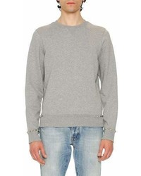 Valentino Rockstud Untitled Sweatshirt Gray