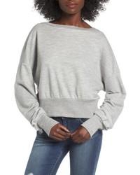 Ruched sleeve sweatshirt medium 4953396
