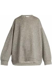 Raey Ry Crew Neck Cashmere Blend Sweatshirt