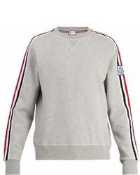 Moncler Gamme Bleu Striped Sleeve Jersey Sweater