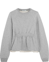 Alexander Wang T By Cotton Terry Peplum Sweatshirt