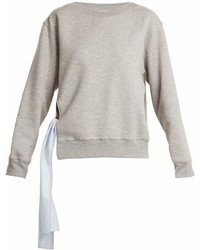 Stella McCartney Tie Side Cotton Blend Sweatshirt