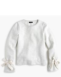 J.Crew Tie Sleeve Sweatshirt