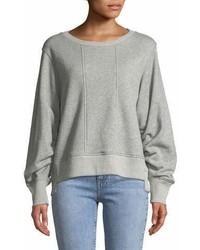 7 For All Mankind Tucked Sleeve Crewneck Sweatshirt