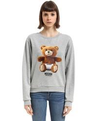 Moschino Underbear Print Cotton Sweatshirt