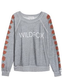 Wildfox bouquet thrashed sweatshirt medium 5257029