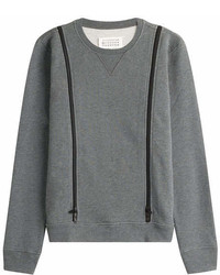 Maison Margiela Wool Sweatshirt With Zip Detail