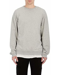 RtA Wrath Distressed Cotton Terry Sweatshirt