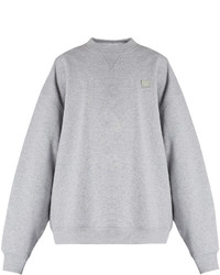 Acne Studios Yana Face Patch Cotton Sweatshirt