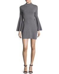 Swing sleeve mock neck sheath dress gray medium 862736