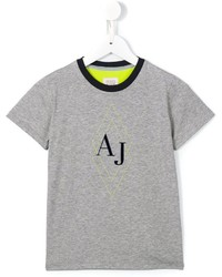 Armani Junior Diamond Logo T Shirt