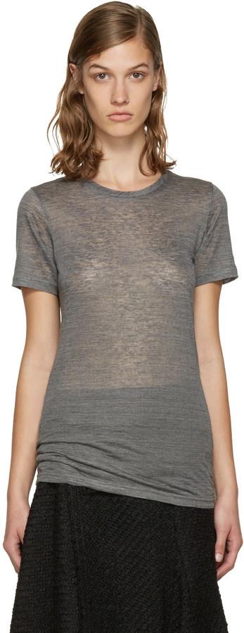 Isabel Marant Grey Madras T Shirt