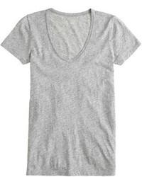 J.Crew Petite Vintage Cotton Scoopneck T Shirt
