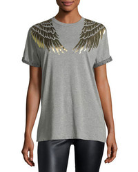 RED Valentino Redvalentino Cotton T Shirt W Lam Wing Detail