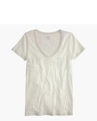 J.Crew Vintage Cotton Scoopneck T Shirt In Metallic