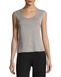 Ming Wang 22l Scoop Neck Tank Top Gray