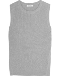 Equipment Bay Ribbed Cotton And Cashmere Blend Tank Light Gray