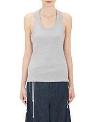 Tim Coppens Drawstring Hem Ribbed Tank Grey