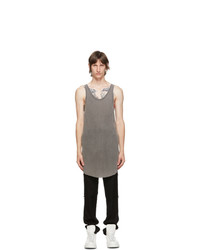 11 By Boris Bidjan Saberi Grey Acid Tank Top