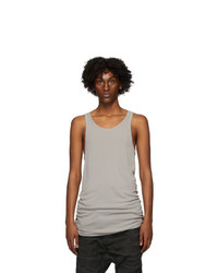 Boris Bidjan Saberi Grey Cotton Tank Top