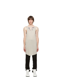 11 By Boris Bidjan Saberi Grey Dye Tank Top
