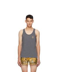 Versace Underwear Grey Medusa Tank Top