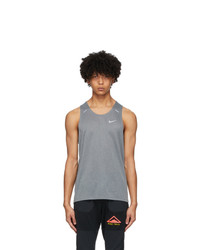 Nike Grey Rise 365 Running Tank Top